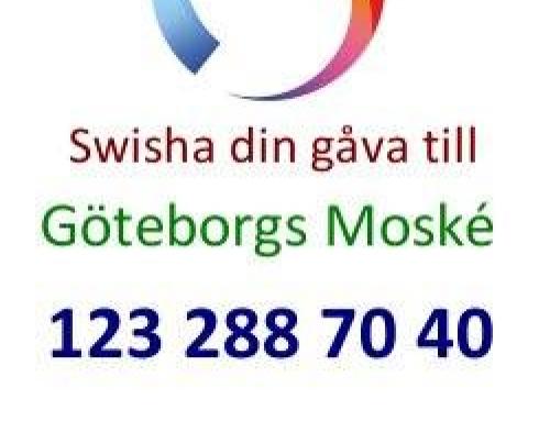 Nu kan du Swisha ditt bidrag till Göteborgs Moské.